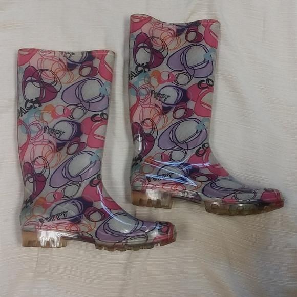 ✨HP✨ Coach Poppy Rain Boots